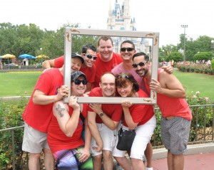 WIth Gay Christian friends at Disney Gay Days